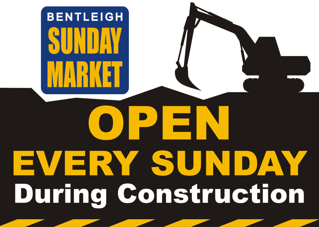 Bentleigh Sunday Market Open during construction
